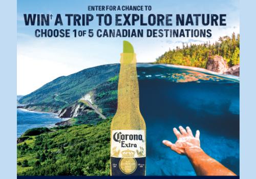 Corona Contest Win 1 of 25 Trips to Explore in Canada