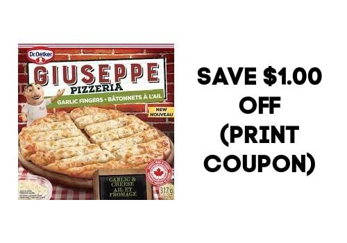 Dr Oetker pizza : Garlic Fingers $1.00 off