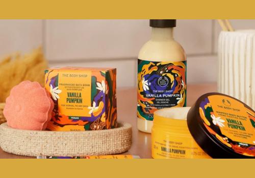BodyShop Prize Pack win Vanilla Pumpkin Body Care