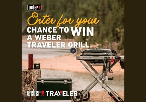 Weber Grills Contest: WIN a Weber Traveler Portable Gas Grill.