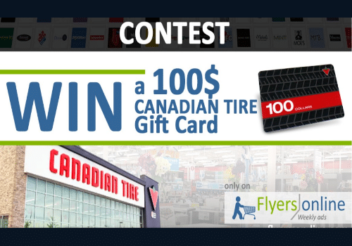 Canadian Tire Contest: Win a $100 Canadian Tire Gift Card