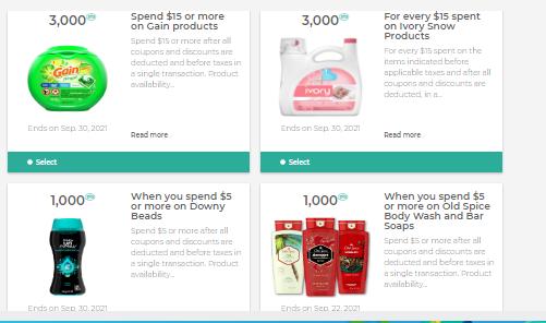 PC loadable coupons for bonus optimum points