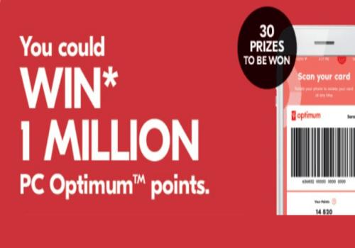 Shoppers Drug Mart Contest: WIN 1 MILLION PC Optimum Points