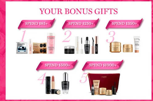 Lancome Bonus Gifts - Free Gifts with Purchase