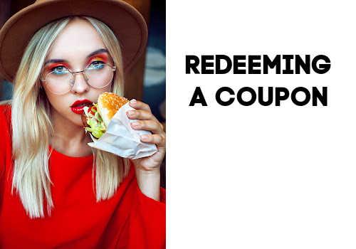 Redeem a coupon at Burger King