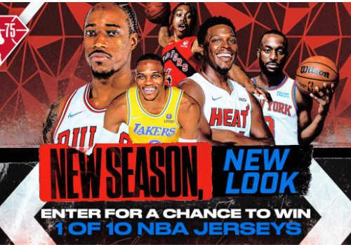 NBA Contest: Win 1 of 10 NBA jerseys