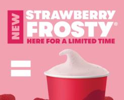 Wendys Frosty - New Flavour Strawberry