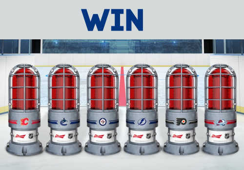 Budweiser Contest: Win a Budweiser Red Light NHL Edition