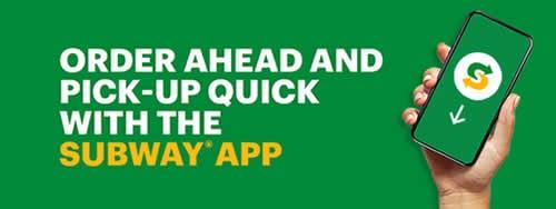 Subway Canada Coupons with Subway App