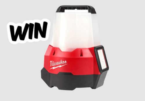 Milwaukee Tools Contest – Win a M18 RADIUS Compact Site Light w/ Flood Mode